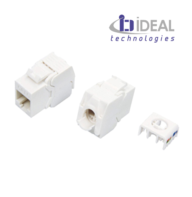 Módulo H RJ45 UTP Cat. 6 180º 250 Mhz 5 Gbit tooless IDEAL .