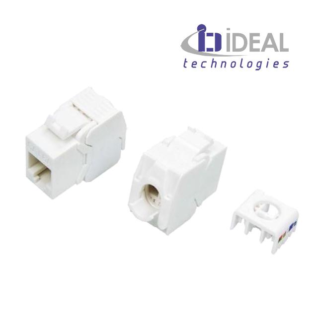 Módulo H RJ45 UTP Cat. 6A 180º 500 Mhz 10 Gbit tooless IDEAL