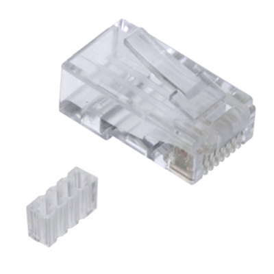 Conector RJ45 Cat. 6 UTP rígido/flexible con guía
