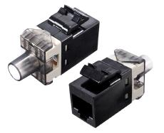 Módulo H RJ45 Cat. 6 UTP 180º 110 250 Mhz 1 Gbit tipo Amp negro .