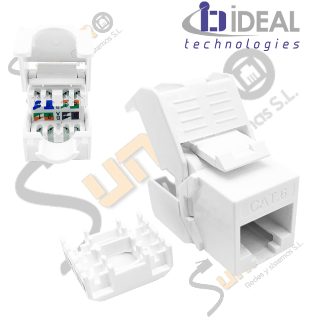 Módulo H RJ45 Cat. 6 UTP 180º 250 Mhz 5 Gbit tooless IDEAL