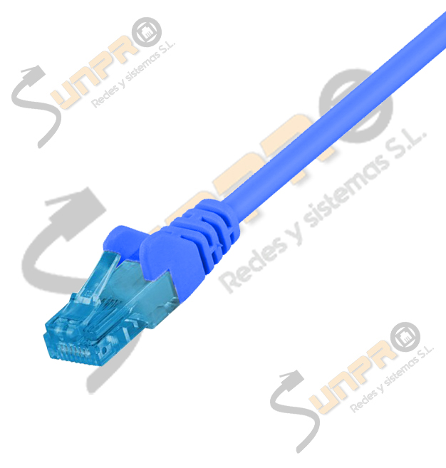 Latiguillo Cat. 6A UTP LSZH 2m azul IDEAL